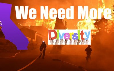 As California BURNS, Lights Go Out + People FLEE, Politicians Concentrate on Diversity