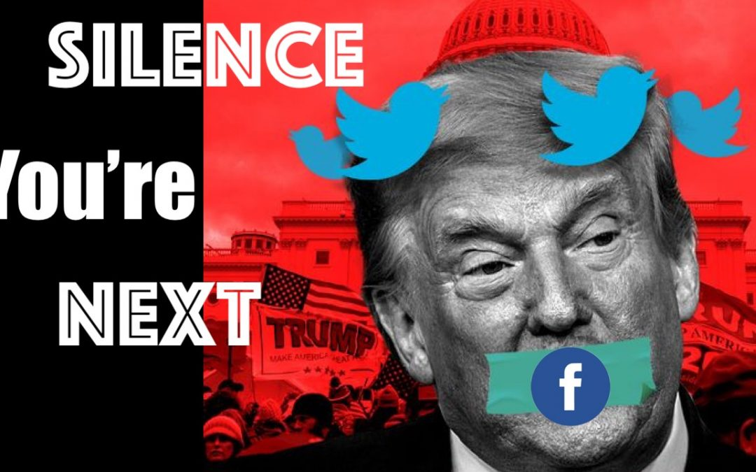 Trump Silenced by Silicon Valley —  Free Speech Gets Hit By Lightning Bolt
