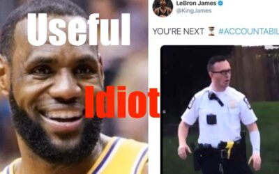 Useful Idiot Lebron — Puts Cop who Saved Black Girl's Life in Crosshairs (Media Framing)
