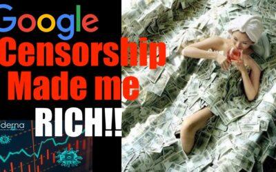 I Thank YouTube #Censorship for Making Me RICH Biatch! Skyrocketing Pharma Stocks!