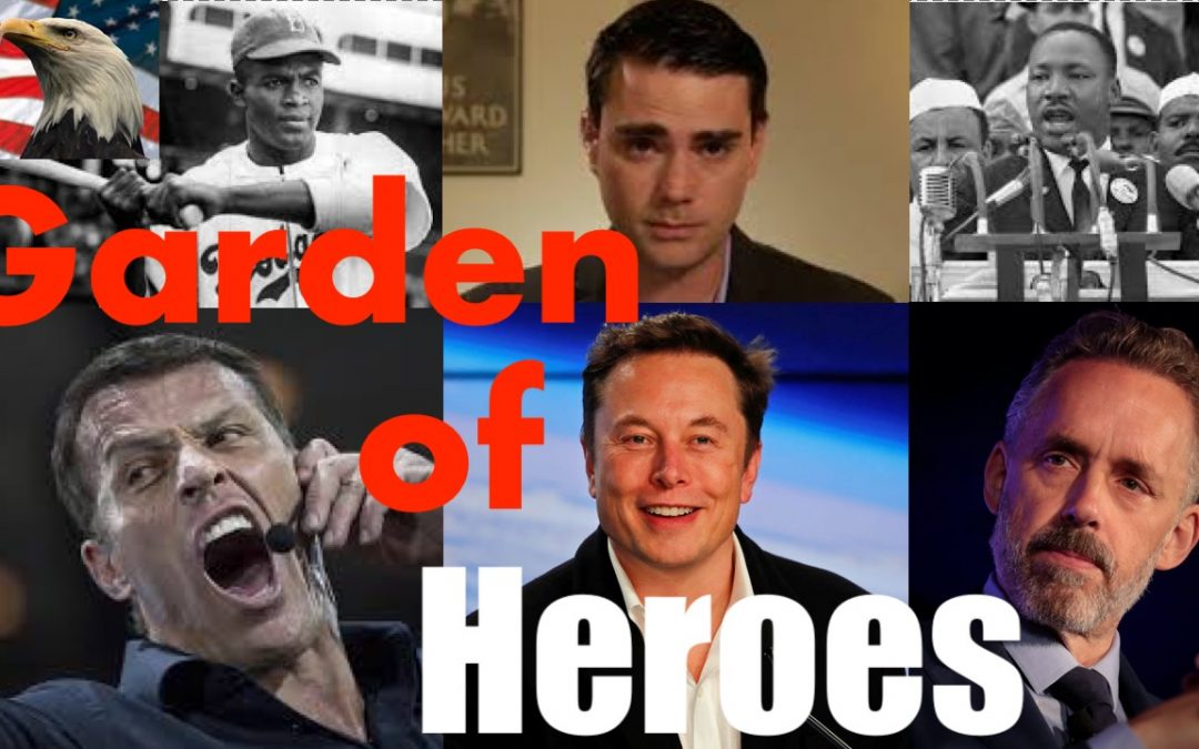American Garden of Heroes With Career Highlights  MLK, Jordan Peterson, Elon Musk, Tony Robbins +